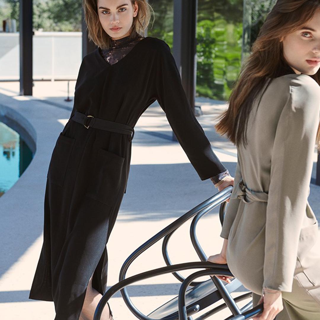 Belted Black Dress 3