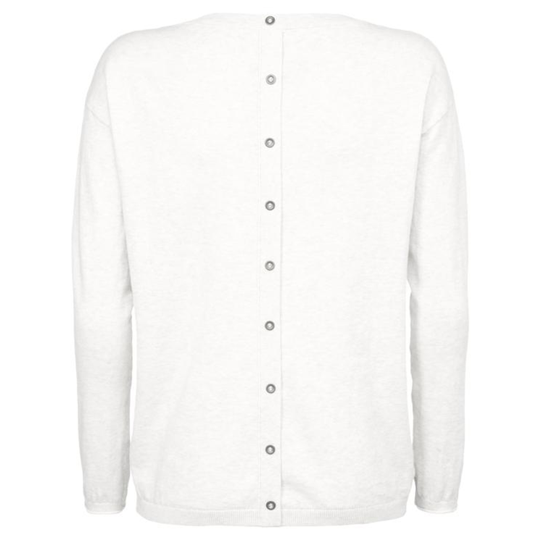 Sweater With Buttons White 2